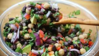 Mediterranean Black Bean and Garbanzo Bean Salad