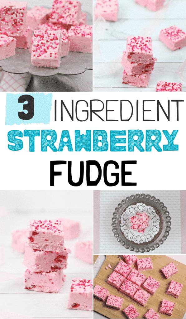 Easy {3 Ingredient} Strawberry Fudge