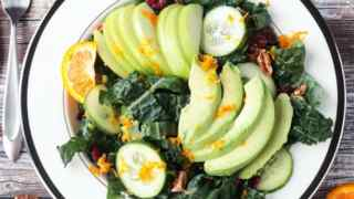 Lacinato Kale Superfood Salad w/ Citrus Tahini Dressing