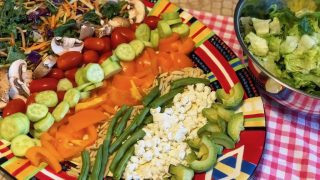 Layered Rainbow Salad Platter for Dinner - Great for Picky Eaters