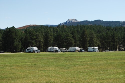 Campers at campground