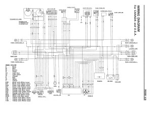 Wiring diagram for the DR350 S (1990 and later models