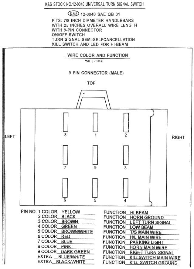 K S Turn Signal Wiring Diagram Schematics Wiring Diagrams
