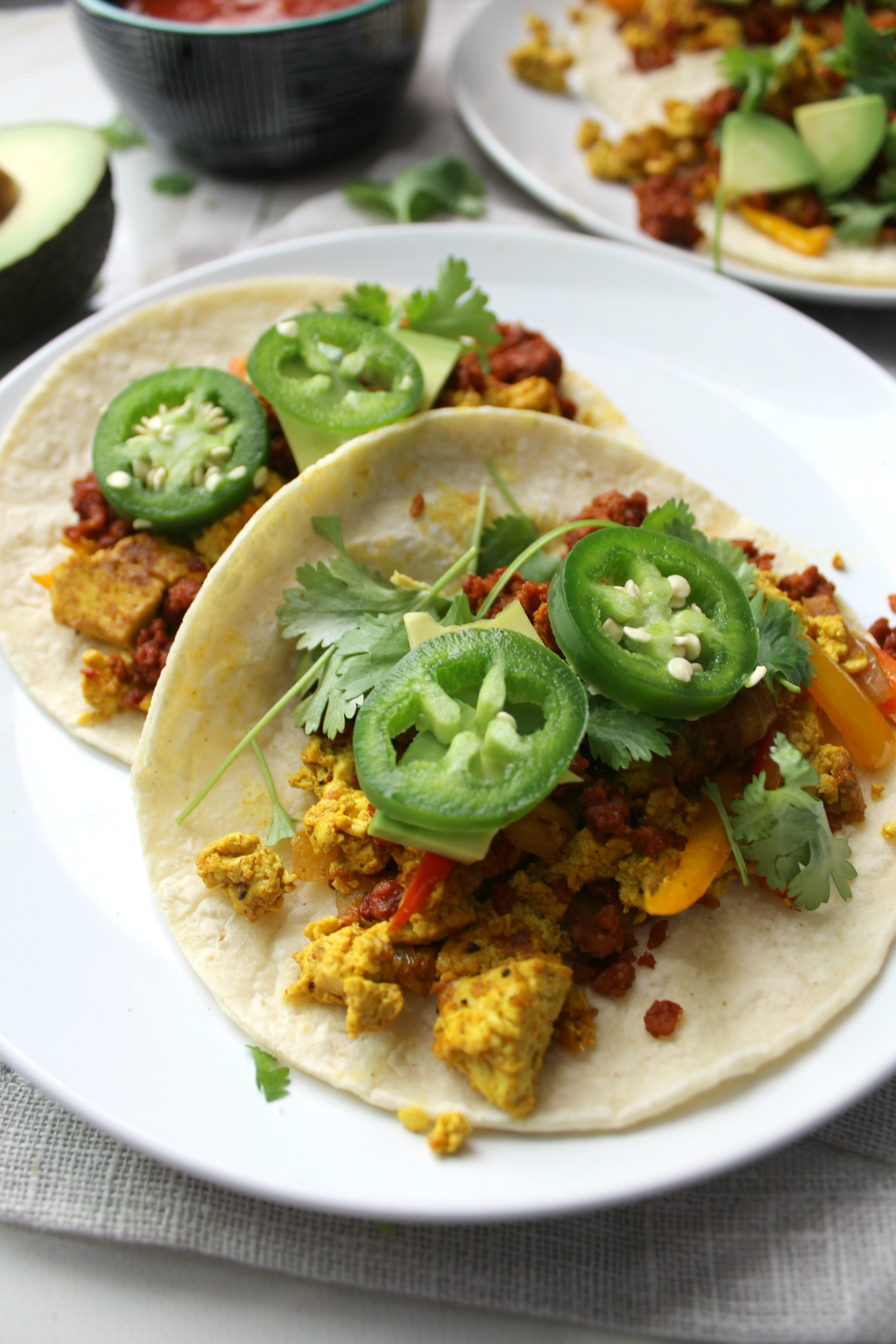 These Breakfast Tacos are perfect for the weekend | VEGAN + GF | ThisSavoryVegan.com