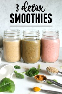 Reboot your body with these 3 Detox Smoothie Recipes | GF + VEGAN | ThisSavoryVegan.com