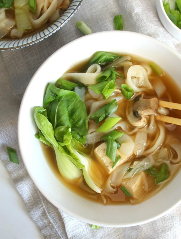 Asian Vegetable Noodle Soup | ThisSavoryVegan.com