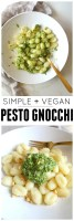 Simple Vegan Pesto Gnocchi | ThisSavoryVegan.com