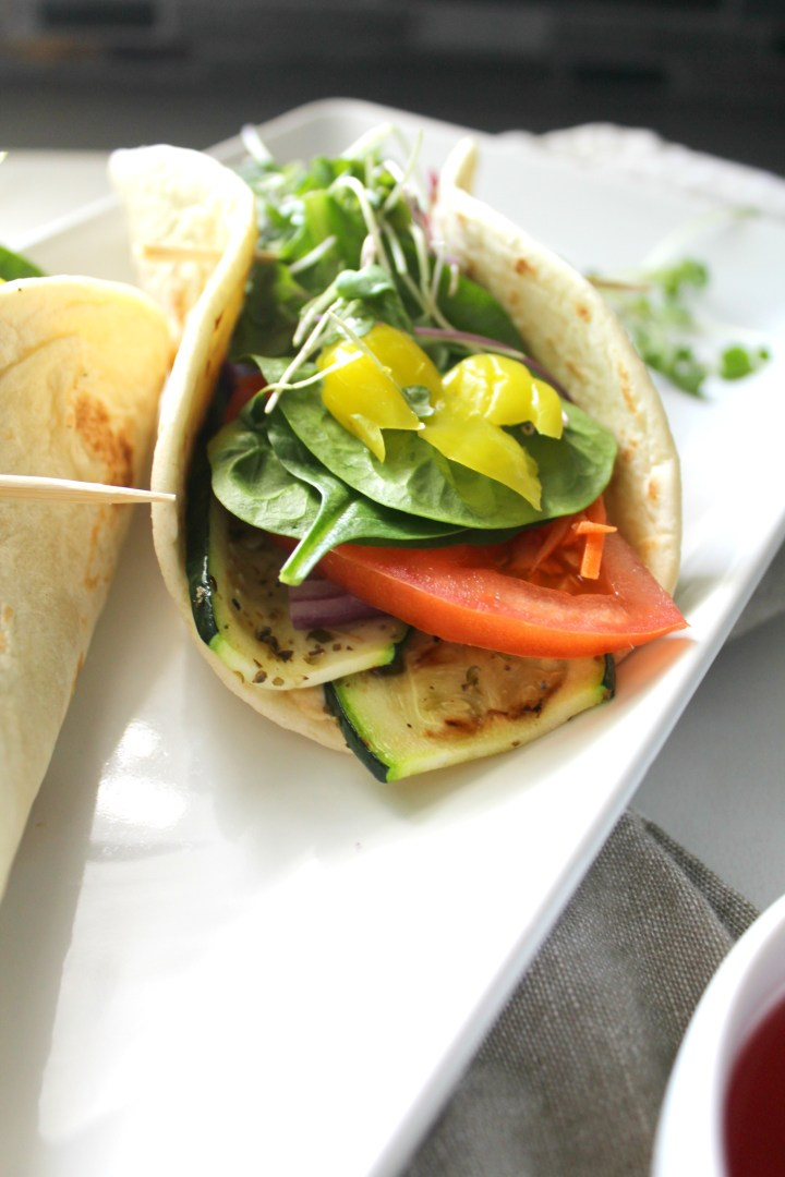 These Grilled Veggie Hummus Wraps are the perfect quick, healthy, vegan lunch   ThisSavoryVegan.com