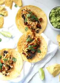 These Black Bean Sweet Potato Tacos are healthy, fresh and vegan. Ready in 30 minutes and full of spice and flavor   ThisSavoryVegan.com