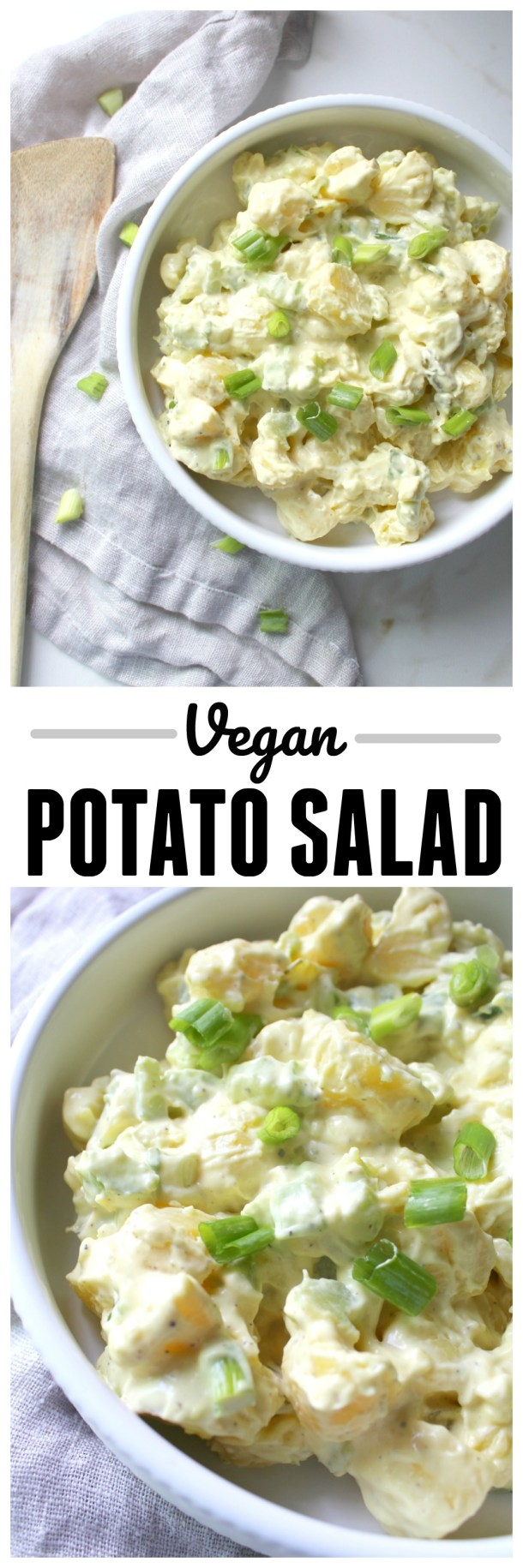 Make a summer favorite plant-based with this super simple (and delicious) Vegan Potato Salad. A new age take with all of the classic flavors | ThisSavoryVegan.com
