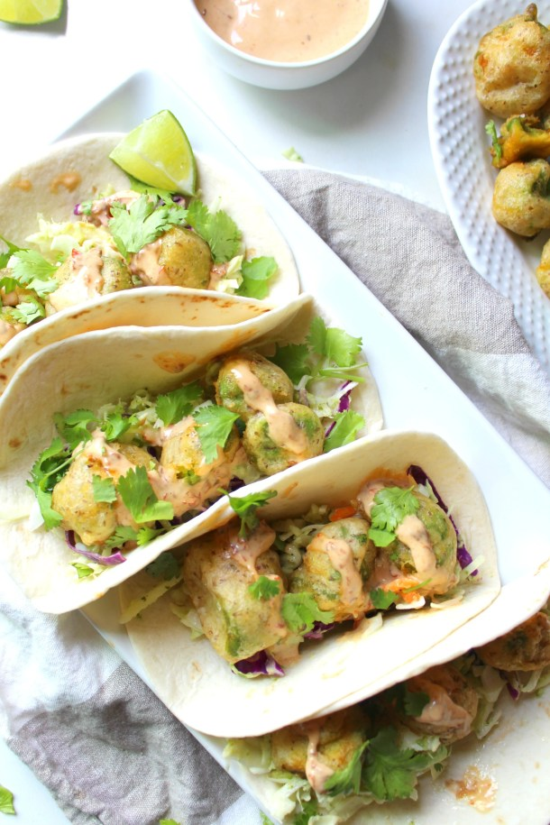 Take taco night to a whole new level with theseCrispy Avocado Tacos with Vegan Chipotle Lime Aioli. Crispy, creamy and spicy!   ThisSavoryVegan.com