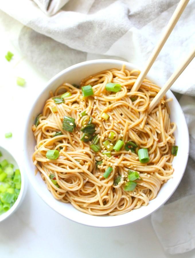 Simple Sesame Ginger Soba Noodles