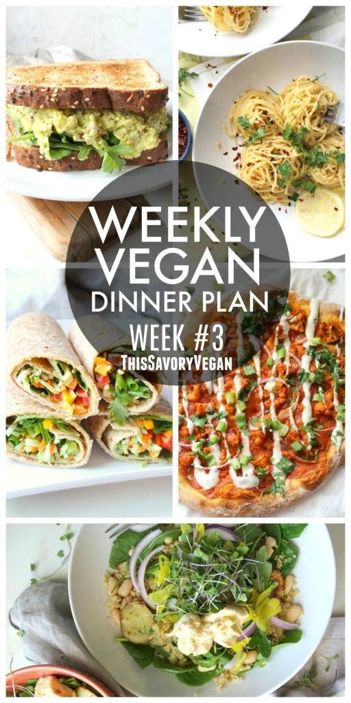 Weekly Vegan Dinner Plan 3 This Savory Vegan