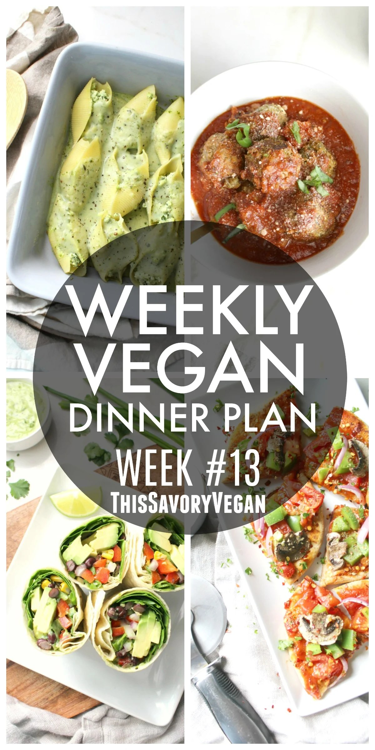 Weekly vegan dinner plan 13 this savory vegan forumfinder Images