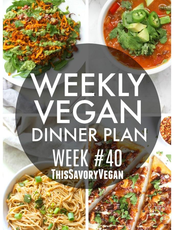 Weekly Vegan Dinner Plan #40