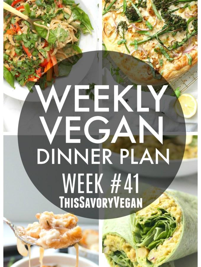 Weekly Vegan Dinner Plan #41