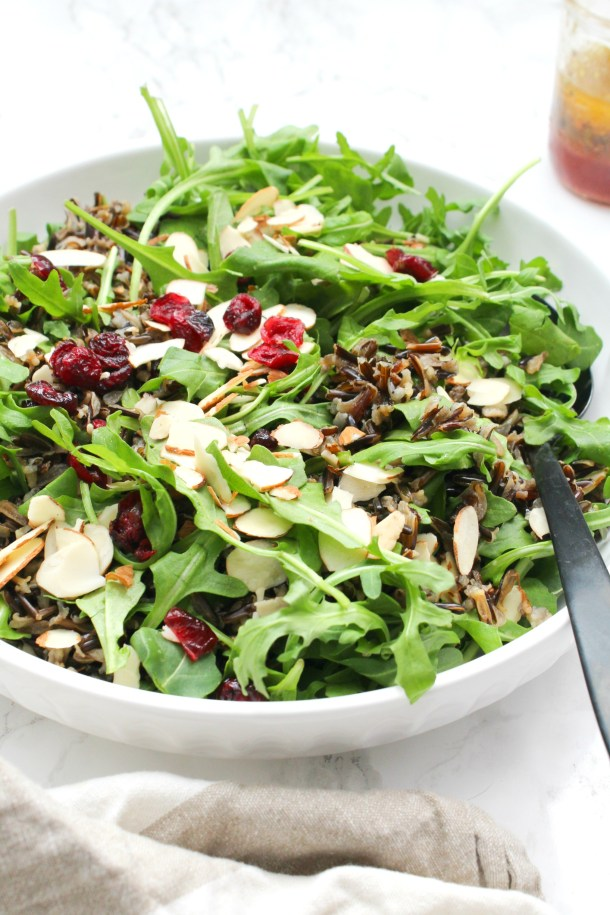 Wild Rice Arugula Salad - This Savory Vegan