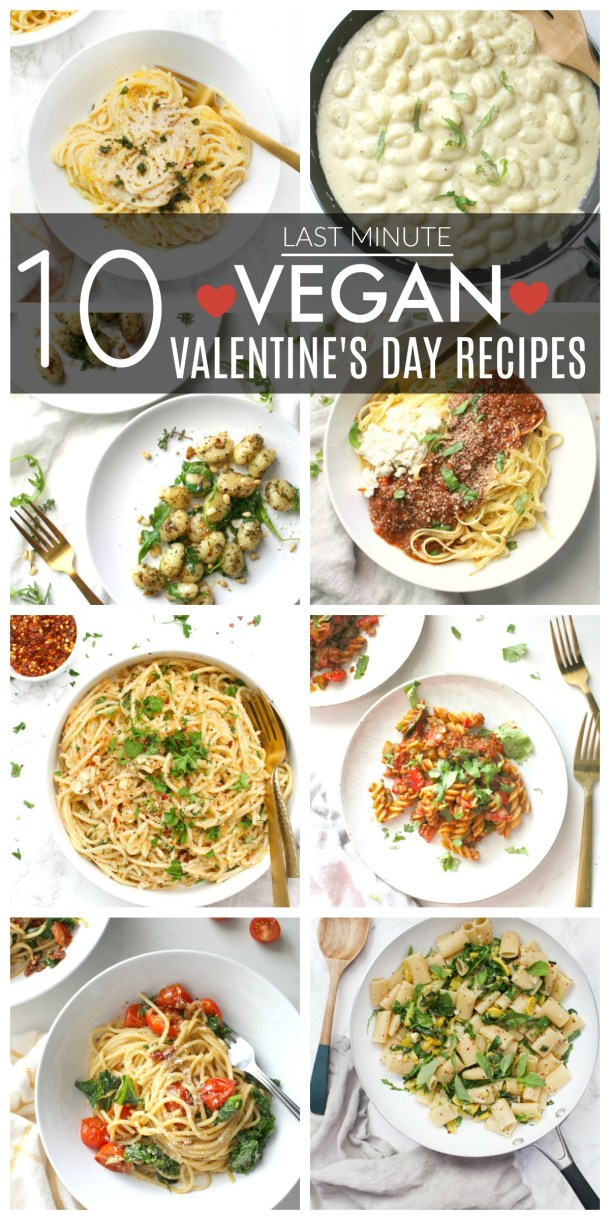 Still not sure what to make for your special somebody on Valentine's Day? Check out these 10 Last Minute Vegan Valentine's Day Recipes for inspo   ThisSavoryVegan.com #thissavoryvegan #vegan #valentinesdayrecipes