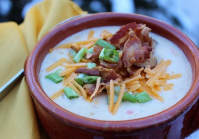 Cheesy Homestyle Potato Chowder with Bacon