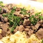 Beef Stroganoff with Wild Mushrooms