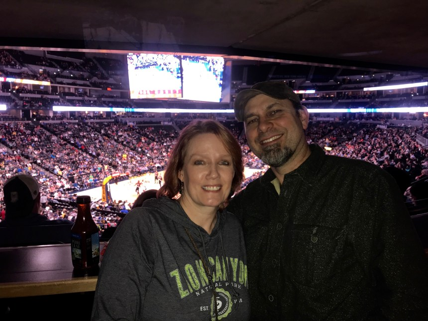 Our first Nuggets game