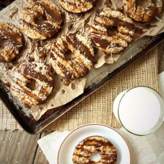 Apple Samoa Protein Donuts
