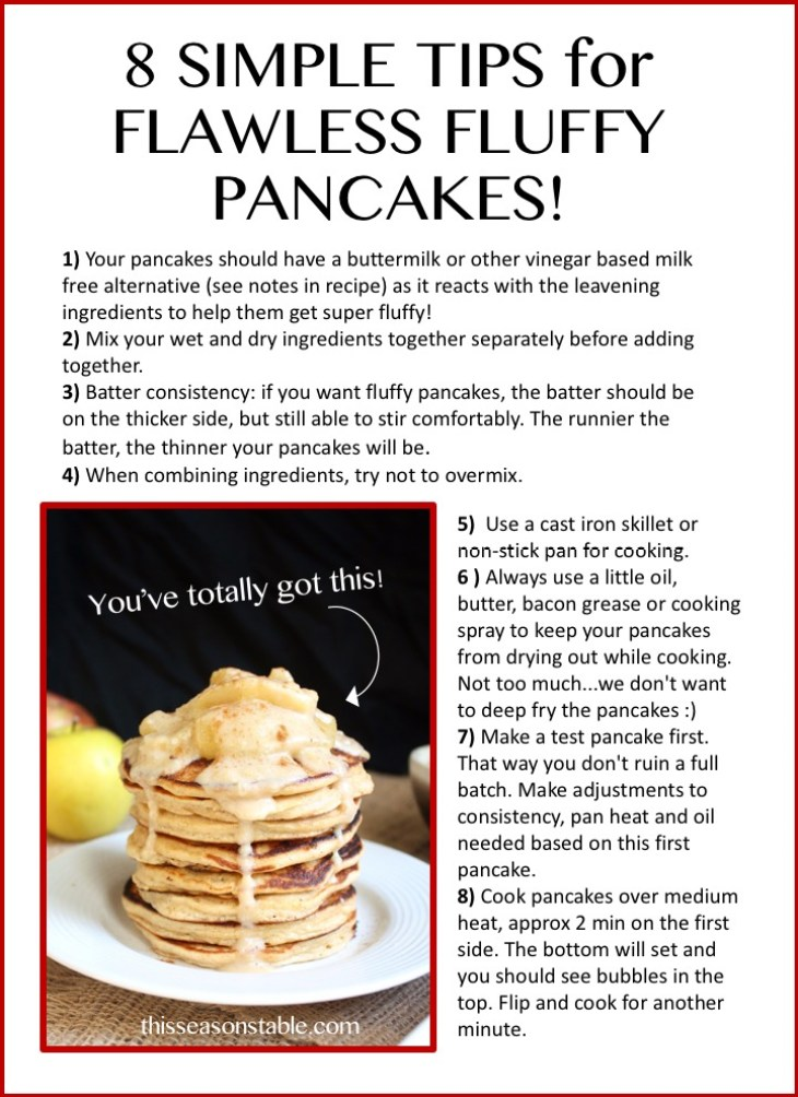 8 Steps for the Perfect Pancake!