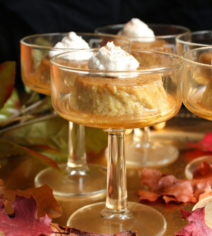 Paleo Pumpkin Flan with Coconut Whipped Cream. Paleo, dairy free and no refined sugar!