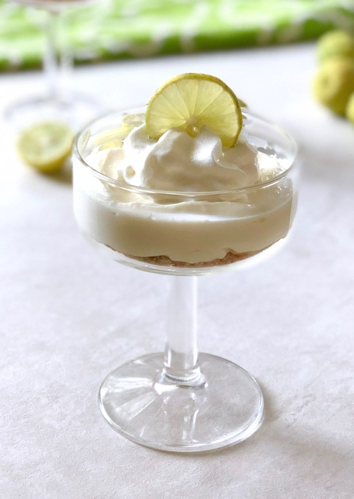 key lime pie bites in a glass