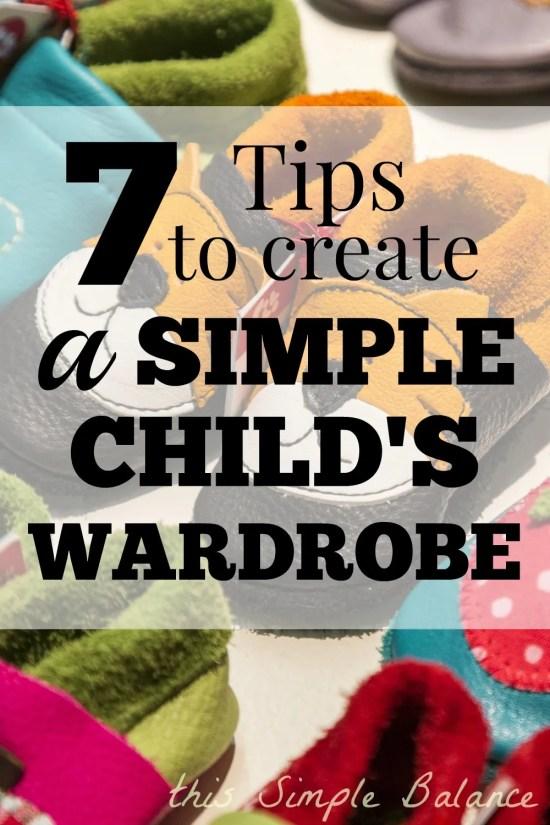 minimalist child wardrobe, how to build a minimalist child wardrobe, saving money on kid clothes