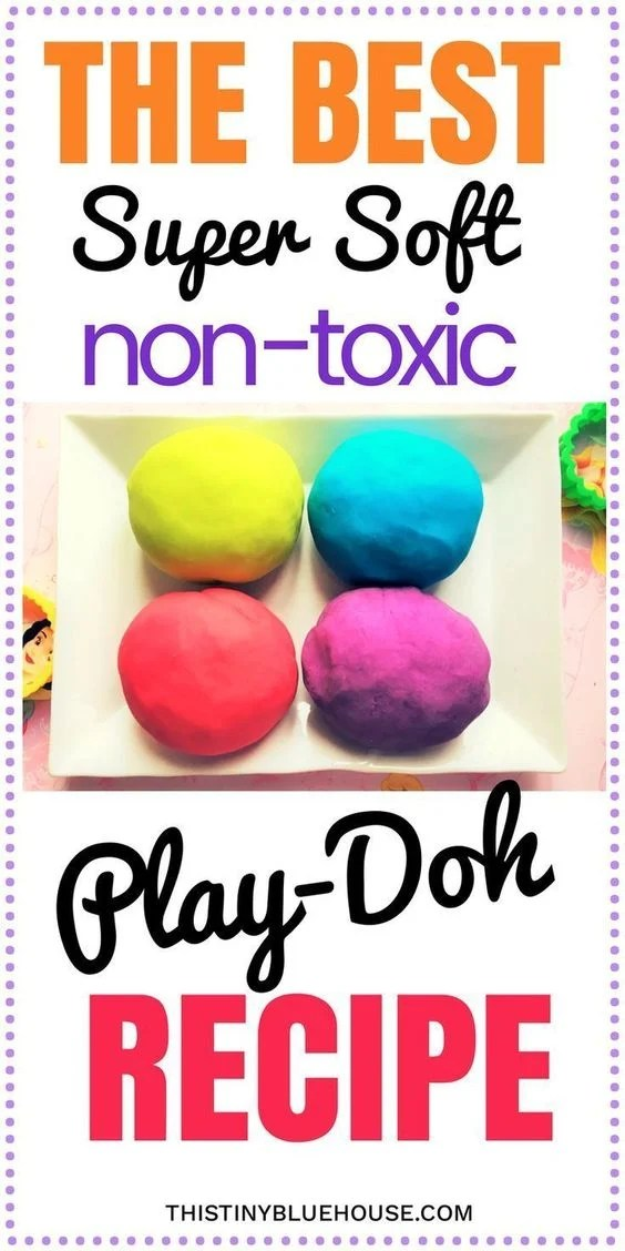 The Best Super Soft Non Toxic Play Doh Recipe