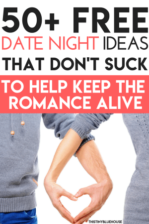Are you looking for awesome free or nearly free date night ideas that don't suck? Here are 50+ date night ideas for couples who want to keep the romance alive #datenight #datenightideas #budgetdatenights #freedatenights #freedatenightideas #fundatenights #athomedatenights #datenightsformarriedcouples