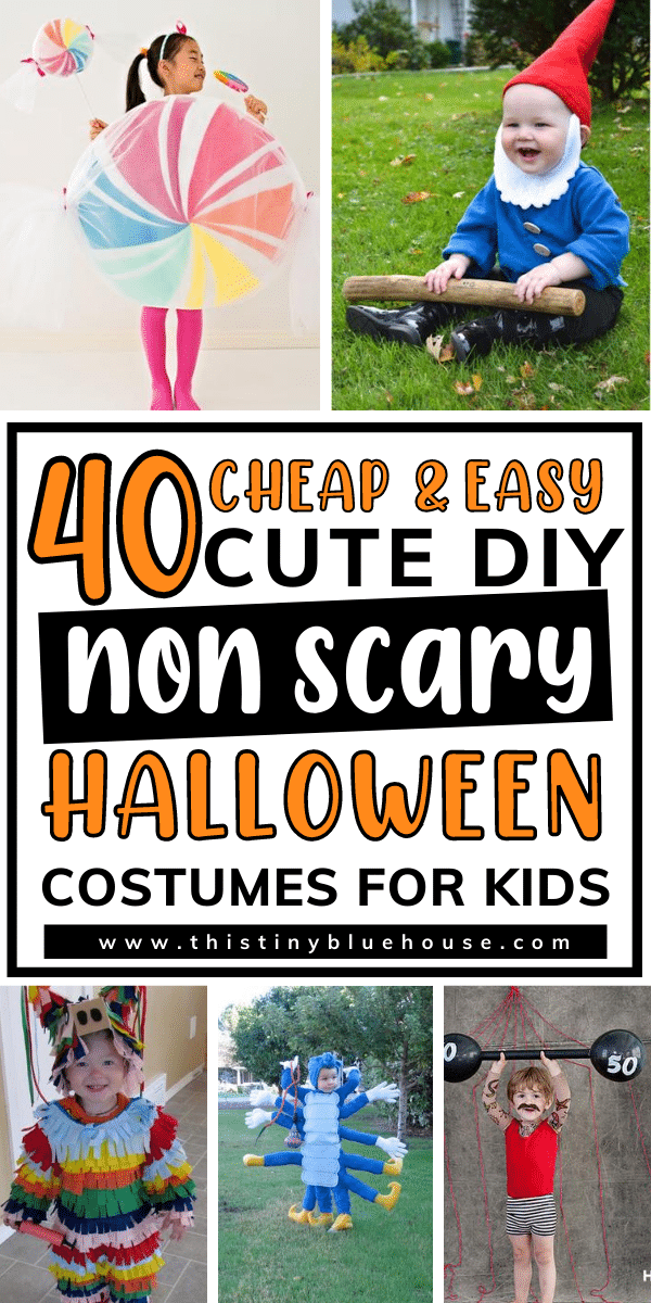40 Cheap & Easy Cute DIY Non Scary Halloween Costumes For Kids