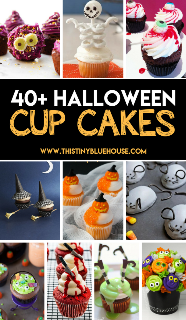 40+ Super cute spooktacular Halloween cupcakes to make this Halloween extra delicious. Super easy, super spooky these Halloween cupcakes are a must try. #HalloweenCupcakes #HalloweenCupcakesForKids #HalloweenCupcakesEasy #HalloweenCupcakesIdeas
