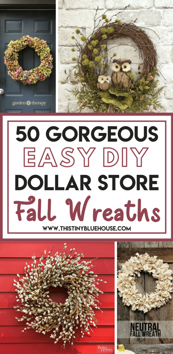 Glam up your house this fall with one of these gorgeous best cheap fall wreath ideas. Use dollar store supplies to make a drool worthy front door wreath. #fallwreathdiy #fallwreathdiyeasy #dallwreathdiydollarstores #fallwreathdiyfrontdoors #farmhousefallwreathdiy #fallwreathideas #fallwreathideasdiy #fallwreathideaseasy #fallwreathideassimple #fallwreathideasrustic #fallwreathideasfarmhouse