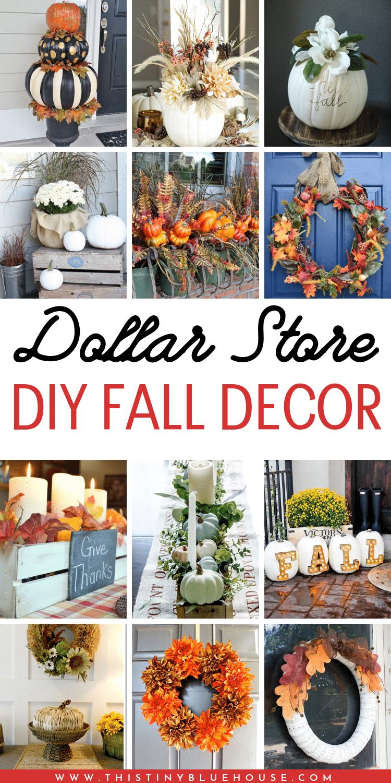 35 Stunning Dollar Store DIY Fall Decor Ideas , This Tiny