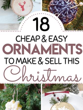 18 DIY Christmas Ornaments To Make And Sell