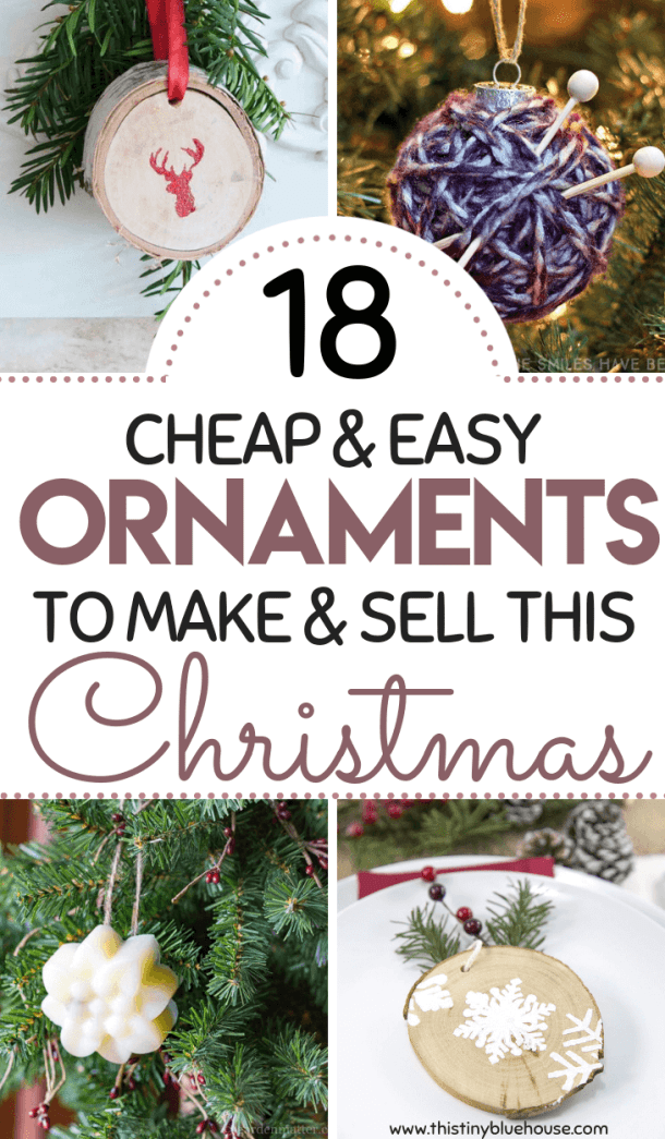 here are 18 gorgeous and unique diy christmas ornaments