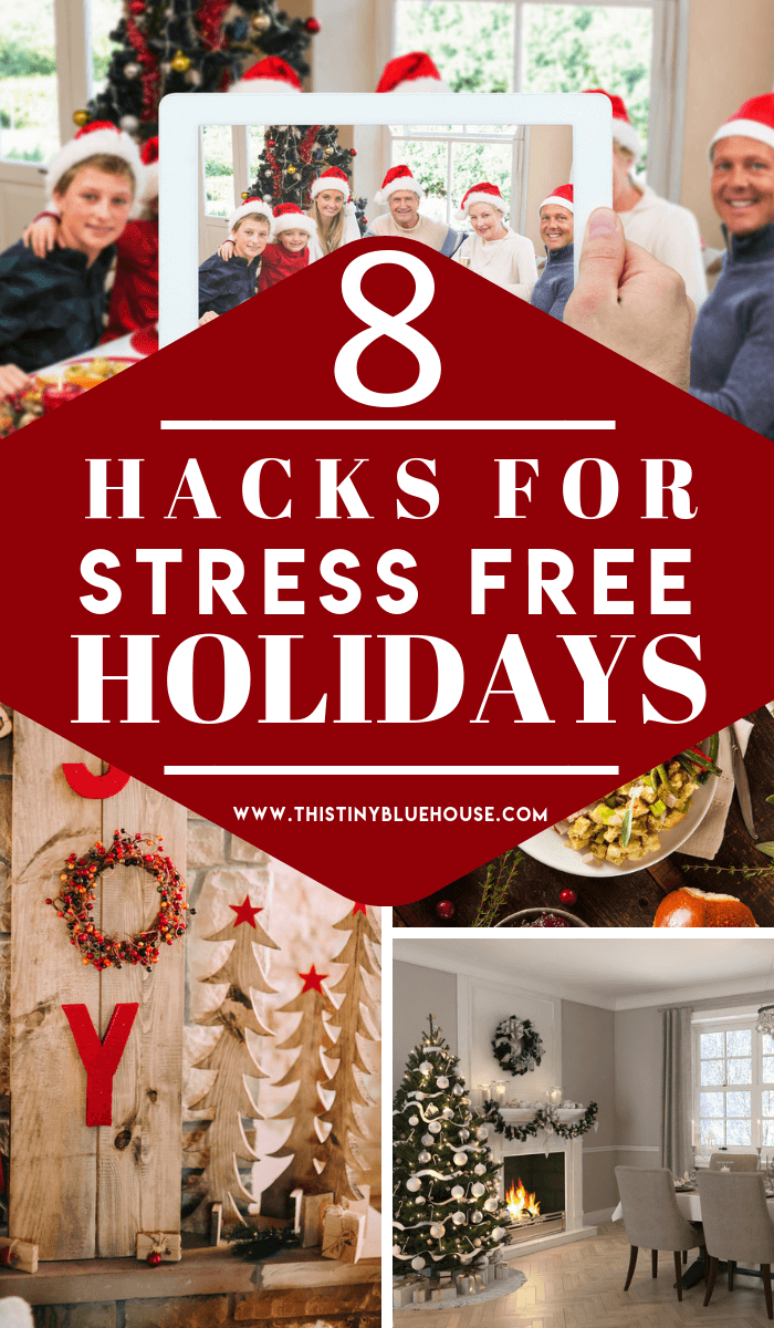 Do the holidays stress you out and leave you flustered? Here are 8 genius hacks to help minimize and manage Christmas stress levels this year. #holidaystress #holidaystressrelief #holidaystressmanagement #holidaystresstips #christmasstress #christmasstressrelief #christmasstressholidays