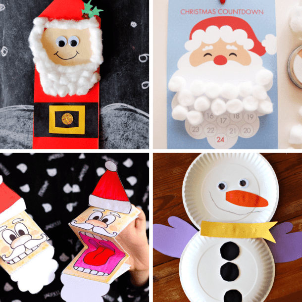 100 Easy Festive Christmas Crafts For Kids This Tiny Blue House