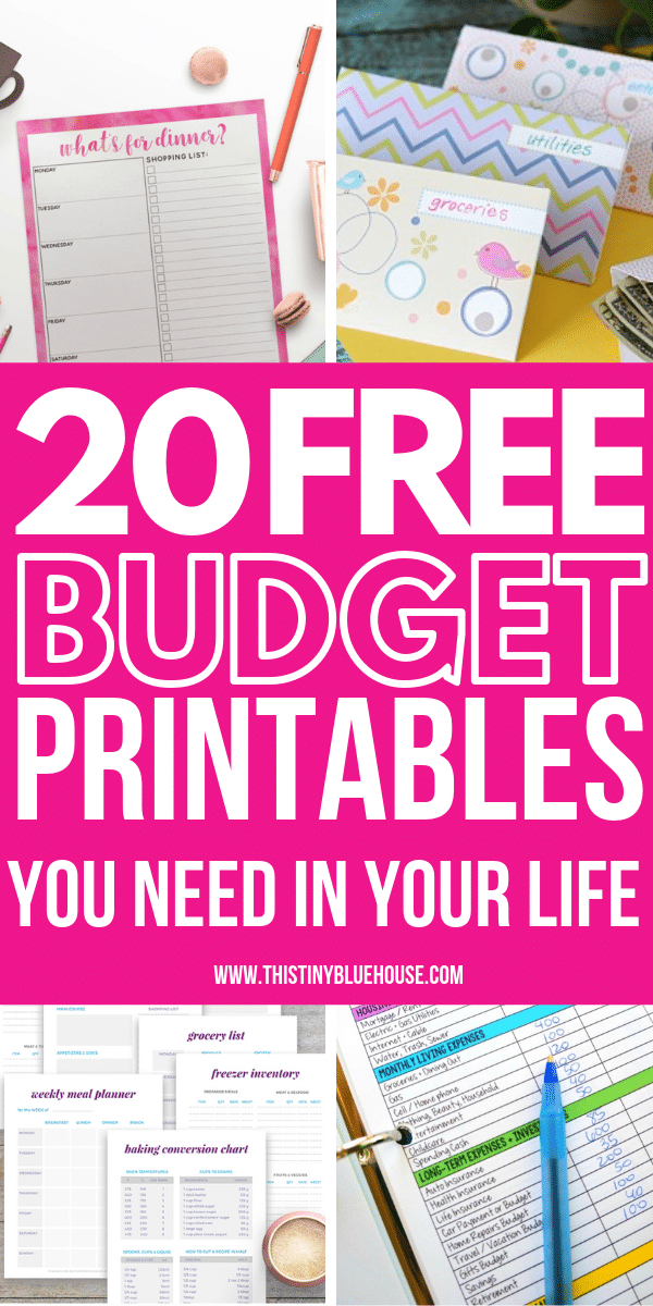 20 Free Budget Printables You Need To Use In 2019 - This Tiny Blue House