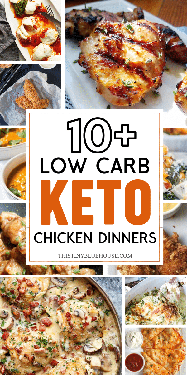 If you like easy chicken dinners here are 10+ easy Keto Chicken Dinner Ideas. So, make dinner easy with these family friendly and delicious these chicken dinners are sure to please! #easyketochickendinner #easyketochickendinnerrecipes #ketochickenrecipes #lowcarbchickenrecipes