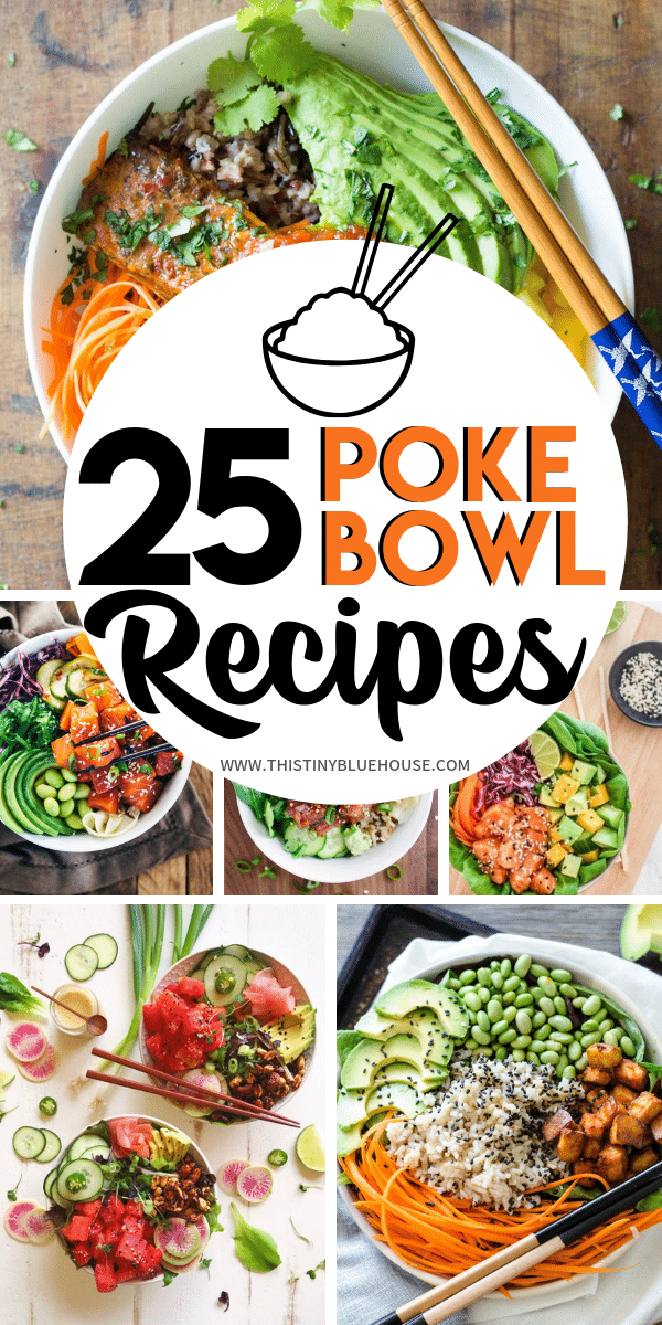 Are looking for some super delicious, gorgeous and easy Poke bowl inspiration? Here are over 20 crazy delicious poke bowls that offer up a healthy meal in a snap. #pokebowl #pokebowlrecipe #pokebowlsalmon #pokebowltuna #pokebowlvegetarian #pokebowlideas