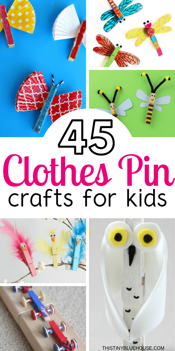 Have a blast with these fun clothespin crafts for kids. Perfect for after school or weekend activities, these 40+ clothespin crafts provide hours of guaranteed fun. #craftsforkids #clothespincraftsforkids #clothespincrafts #clothespinprojects