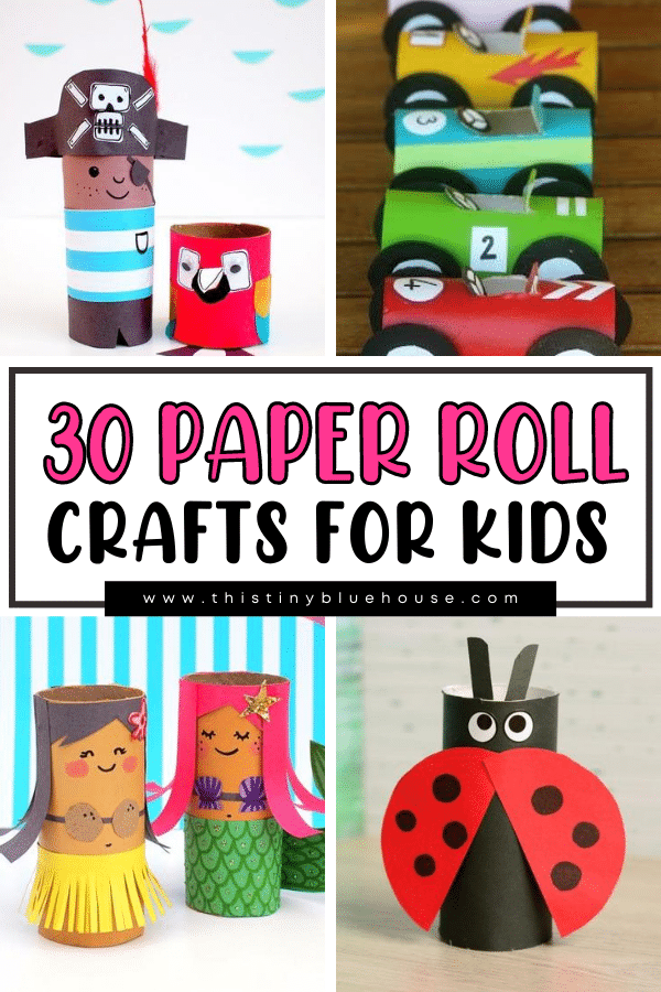 30 Fun Paper Roll Crafts For Kids