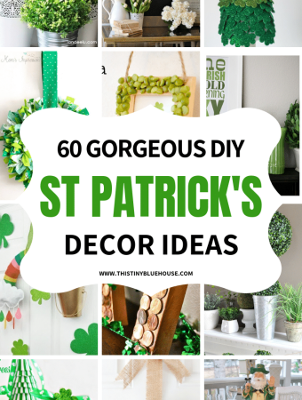 Celebrate St Patrick's day with these gorgeous DIY St Patrick's Day Decor Ideas. Cheap and easy to make these gorgeous projects are guaranteed to make St. Patty's extra special! #stpatricksdaydecor #stpatricksdaydecordollarstore #diystpatricksdaydecor #stpatricksdaydecordiy #farmhousstpatricksdaydecor
