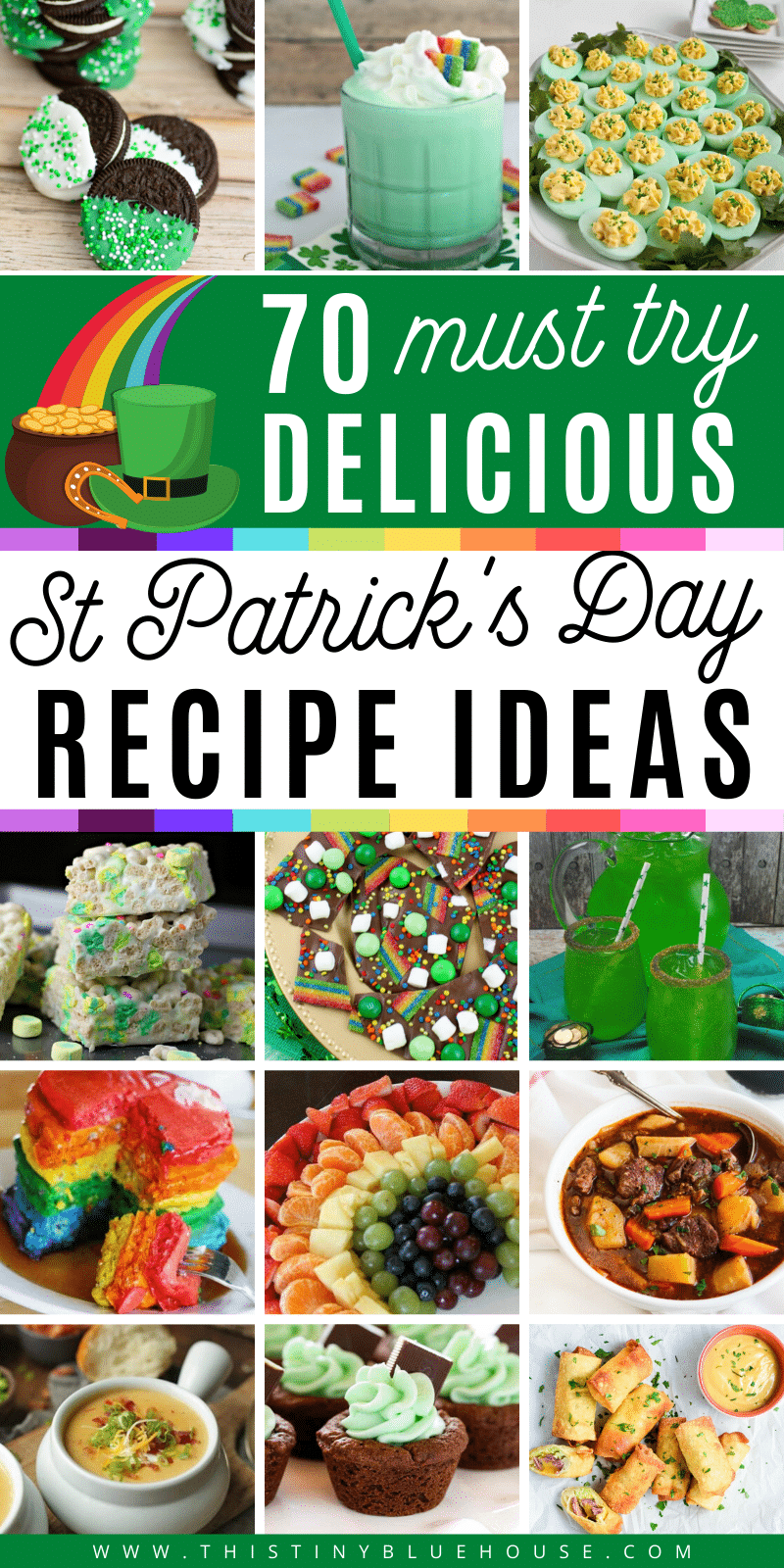 36 Green St/' Patrick/'s Day Shamrock Party Snack Food Picks