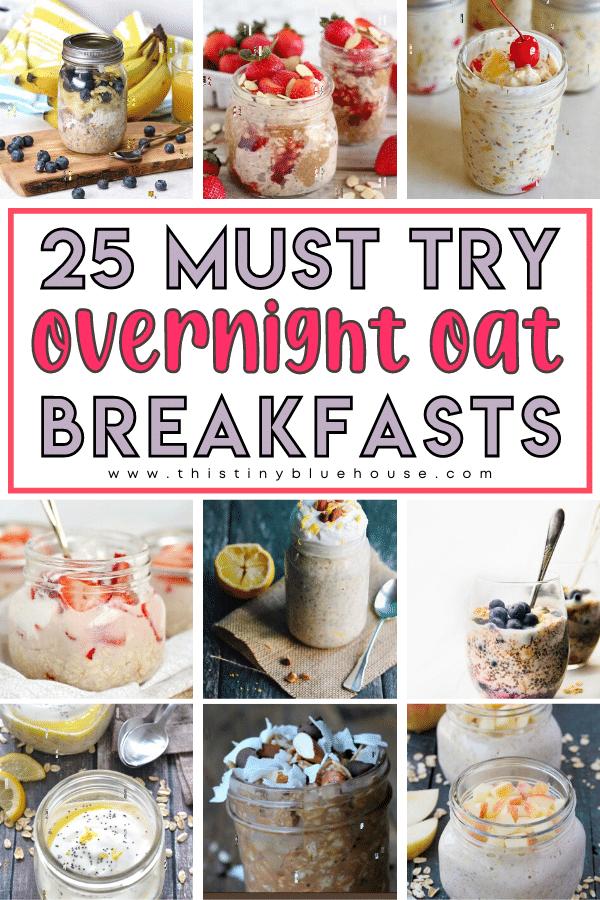 25 Easy Healthy Overnight Oat Breakfasts