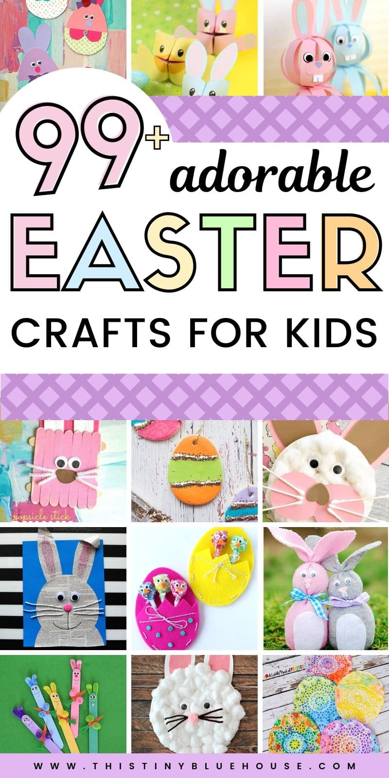 Get the kids excited about Easter with these 100+ adorable Easter Craft ideas for kids. #eastercrafts #eastercraftsforkids #easyeastercrafts #cuteeastercrafts #adorableeastercrafts #eastercraftsforyoungkids