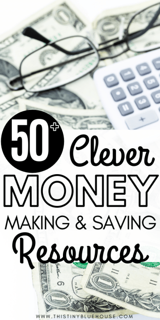 Are you looking to take control of your finances by finding ways to earn extra money every month and save more? Here are 50+ clever resources for anyone who is looking to earn more money every month and save more money every month. From online side hustles to money saving hacks this resource guide is a great start for anyone looking to earn more and save more. #waystoearnmoney #waystoearnmoneyfromhome #waystoearnmoneyeasy #waystoearnmoneyonline #sidehustles #onlinesidehustles #waystosavemoney #moneysavingtips #moneysavinghacks #easywaystosavemoney